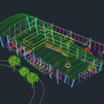 3D Airport Terminal Autocad DWG File