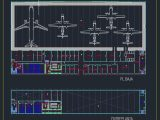 Aircraft Maintenance Hangar Plan CAD Template DWG