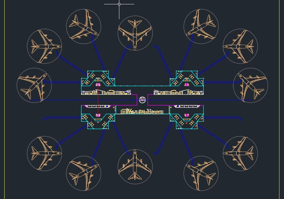 Aircraft Stands and Apron Design CAD Autocad File