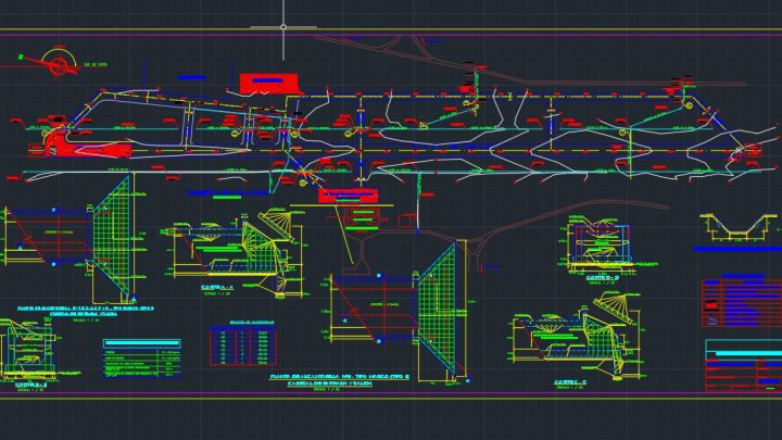 Airport Drainage Plan CAD Template DWG