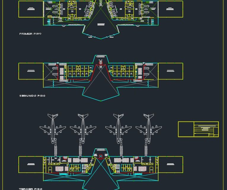 Airport General Plan Autocad Drawing Template