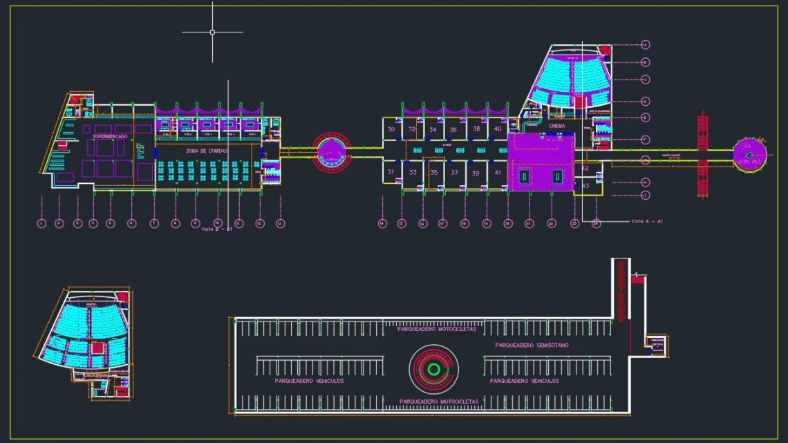 Airport Layout Plan and Parking Design CAD Templates DWG