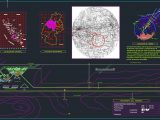 Airport Location Plan CAD Template DWG