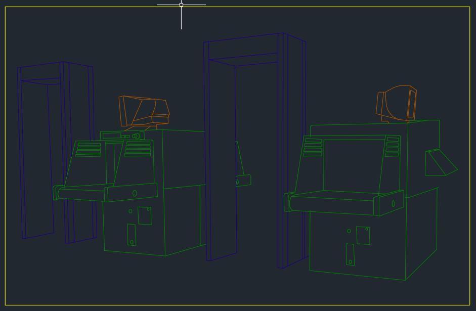 Airport Metal Detector CAD Template DWG