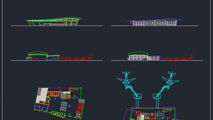 Airport Passenger Terminal Design CAD Templates DWG