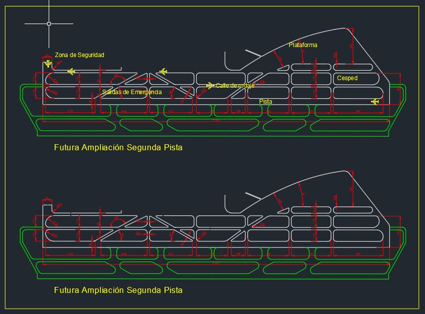 Airport Runway and Taxiway Design CAD Template DWG
