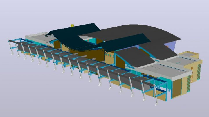 Airport Terminal 3D CAD Template DWG