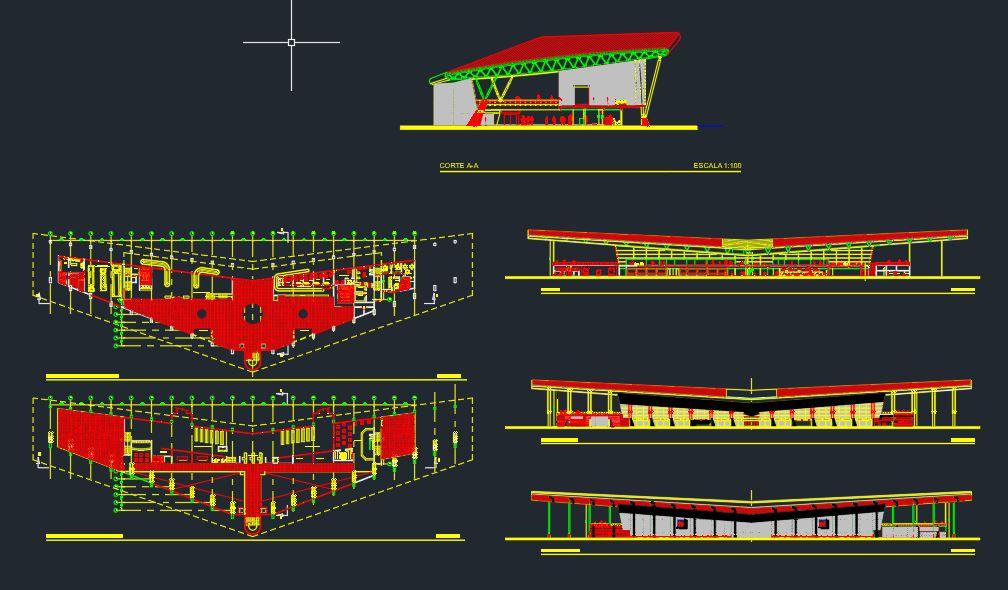 Airport Terminal Design CAD Template DWG