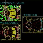 Auditorium Design Plan CAD Template DWG