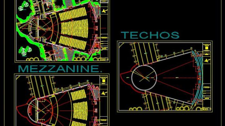 Auditorium Design Plan CAD Template DWG