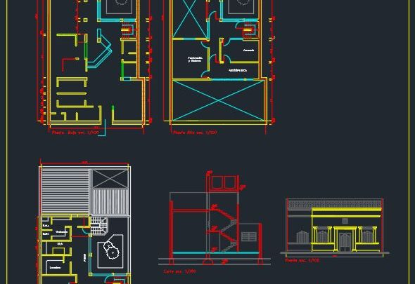Biochemical Laboratory Plan and Elevation CAD Template DWG