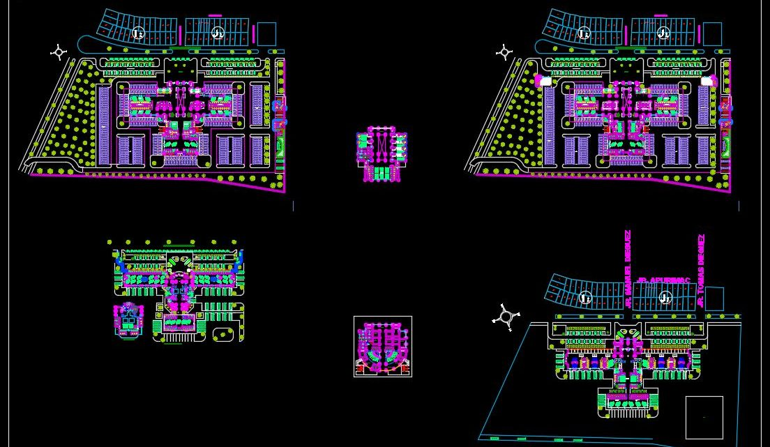Bus Station Autocad Drawing CAD Template Plan