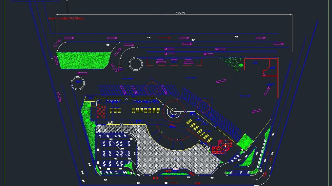 Bus Station Layout Plan CAD Templates DWG