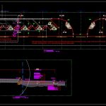Bus Stop Layout Plan and Cross Section CAD template DWG