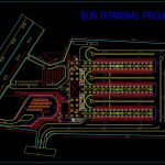 Bus Terminal Project Design CAD Template DWG