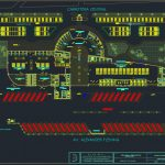 Bus Terminal Terrestrial Plan With All Details DWG Template DWG
