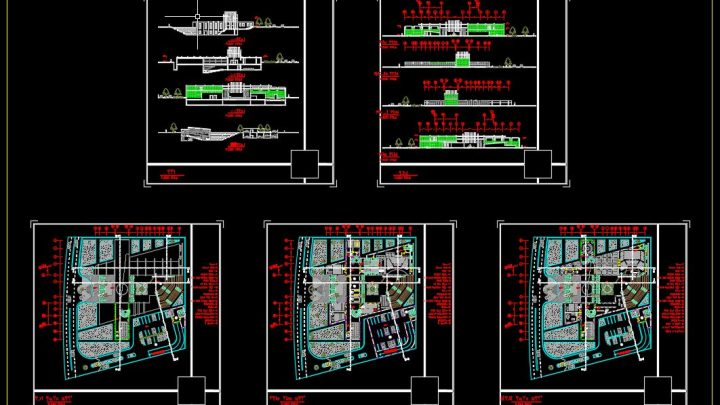 Cinema Plans Elevations and Sections Details CAD Templates DWG