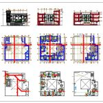 Colonial Hotel Layout Plan and Elevations CAD Templates DWG