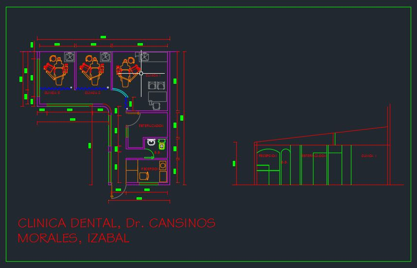 Dental Clinic Design CAD Template DWG