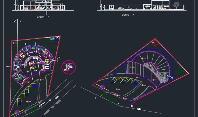 Dental Clinic Project Design CAD Template DWG