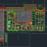 Experimental University Layout Plan CAD Template DWG