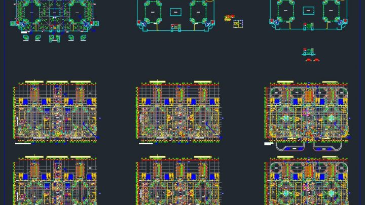 Faculty All Detailed Plans CAD Template DWG