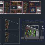 Foor Forks Restaurant Plans CAD Template DWG