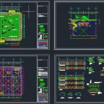 Heliport Layout Plan And Structural Design CAD Template DWG