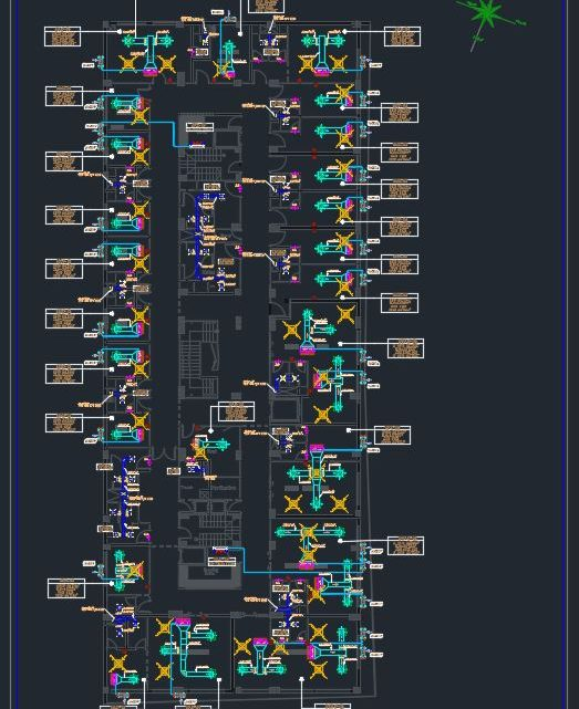 Hospital Typical Floor Layout Plan CAD Template DWG
