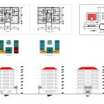 Hotel Elevator and stairs Elevation CAD Templates DWG