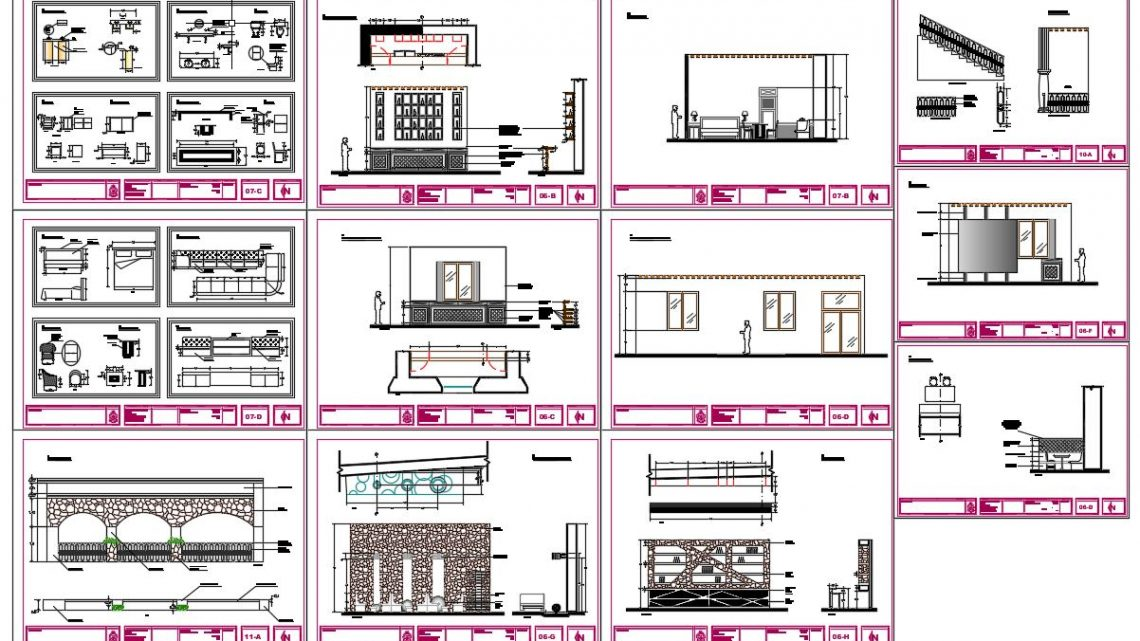 Hotel Furniture Blocks CAD Templates DWG