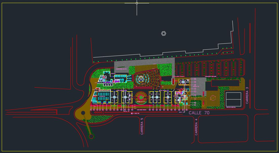 International Airport Landside Design CAD Templates DWG