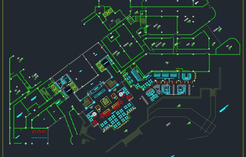 Japanese Restaurant Plan CAD Templates DWG