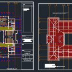 Laboratory Building Block Design Plan CAD Template DWG