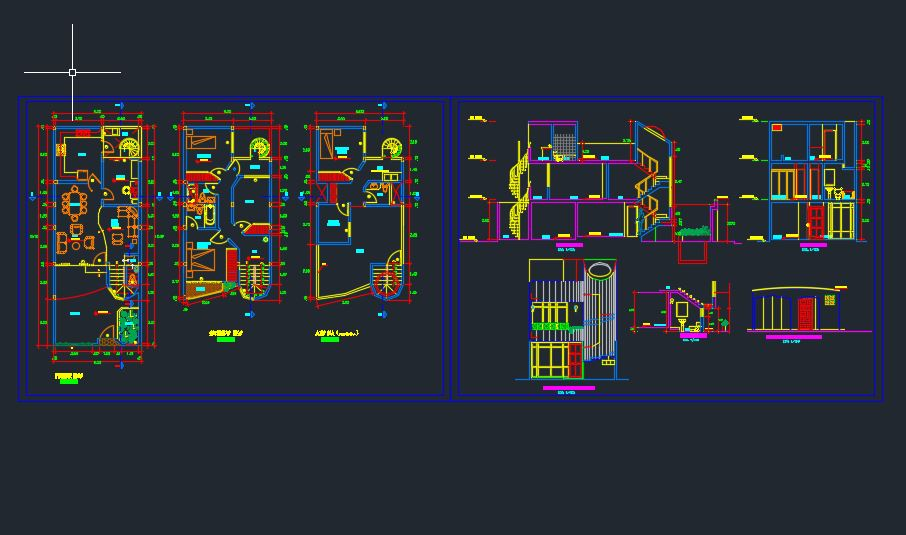 Luxury Hotel Furnished Plans CAD Templates DWG