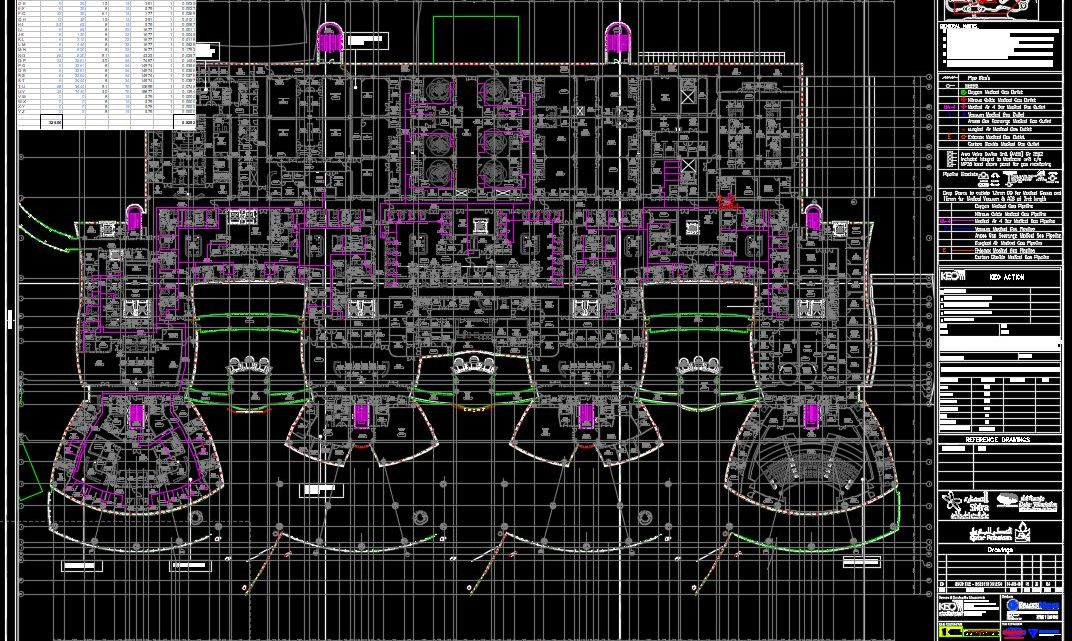 Medical and Research Center Hospital Layout Plan CAD Template DWG