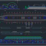 Metro Station Design Plan CAD Template DWG