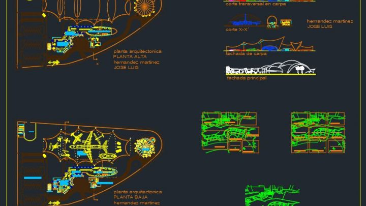 Mid Size Airport Design CAD Template DWG