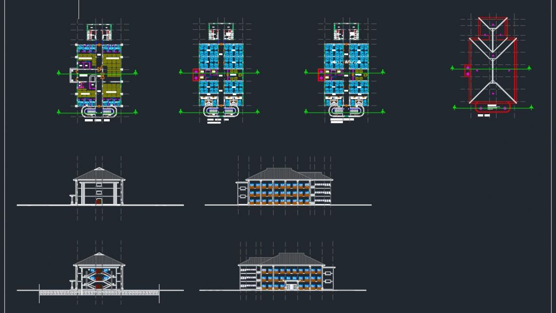 Multi Hotspital Project Design CAD Template DWG