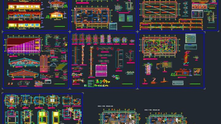 Multi Speciality Hospital Plans and Details CAD Templates DWG