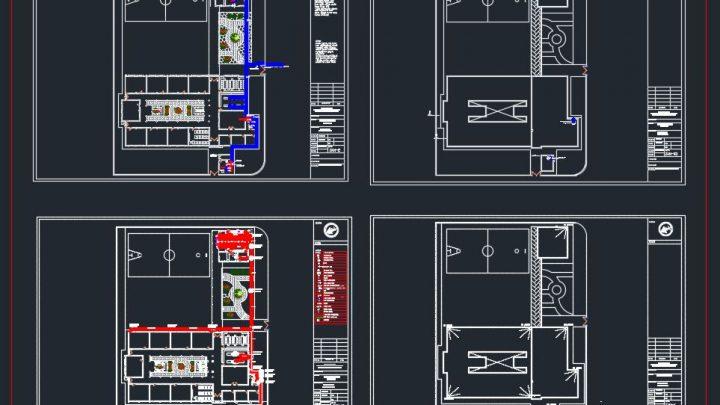 Primary School Plan CAD Template DWG