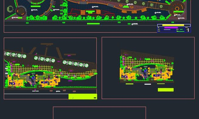 Restaurant Elevation and Outdoor Plans CAD Templates DWG