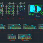 Restaurant Elevation and Sections Details CAD Template DWG