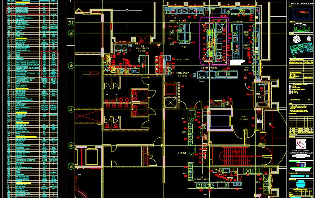 Restaurant Equipment Layout Plan CAD Template DWG