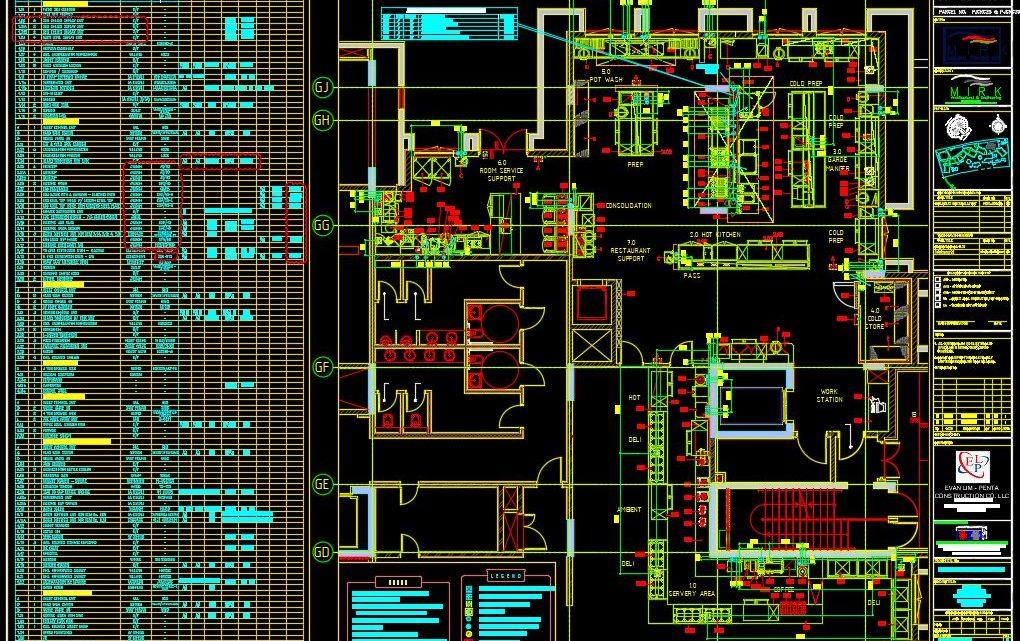 Restaurant Mechanical Layout Plan CAD Template DWG