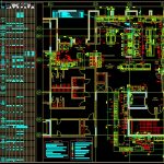 Restaurant Mechanical Layout Plan CAD Template DWG