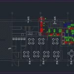 Restaurant Ventilation Layout Plan CAD Templates