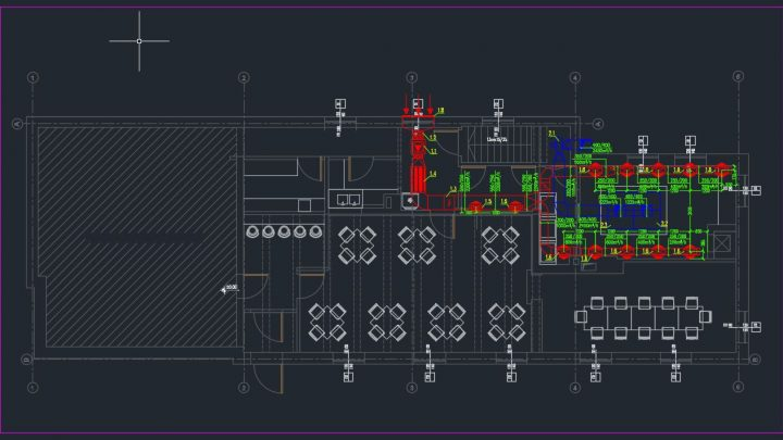 Restaurant Ventilation Layout Plan CAD Templates