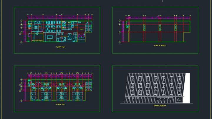 Rustic Hotel General Plan CAD Template DWG