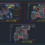 School Drainage Layout Plan CAD Template DWG
